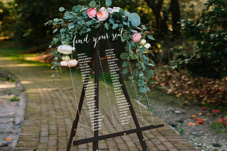 Wedding Seating Chart Sign Escort Boards Seating Board image 0