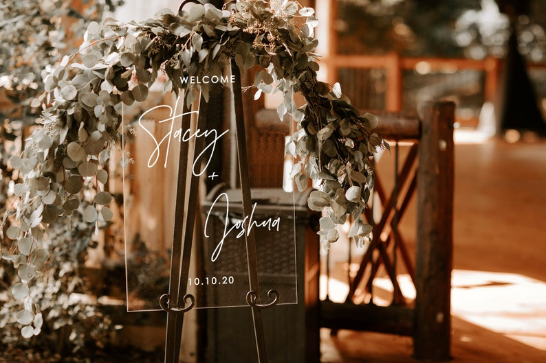 Acrylic Wedding Sign Modern Wedding Sign Wedding Signs Acrylic Wedding -c Lucite Wedding Sign Acrylic Wedding Welcome Sign