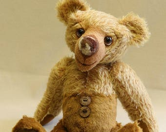 "OOAK artist bear, traditional mohair bear, handmade by Brierley Bears ""Sorin"""