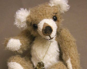 "OOAK artist bear, mohair bear, handmade by Brierley Bears ""Barney"""