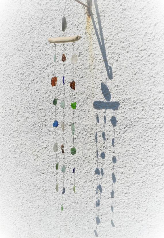 Beach Garden Mobile. Unique Wedding Present, Boho Wind Chime, Suncatcher, on golf rain, home appliances rain, baby rain,