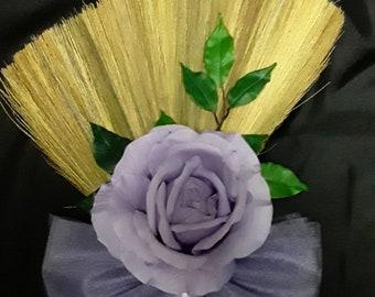 Lavender Rose Wedding Jumping Broom