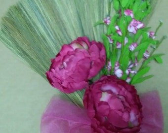 Pink and Green Wedding Broom, Jumping Broom