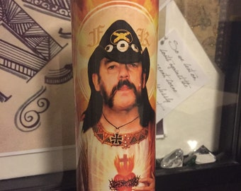 St Lemmy Motorhead Prayer Candle