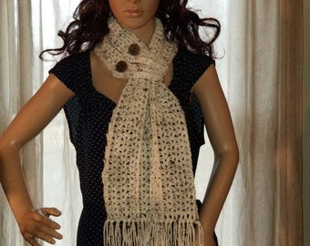Hartford Buttoned Scarf