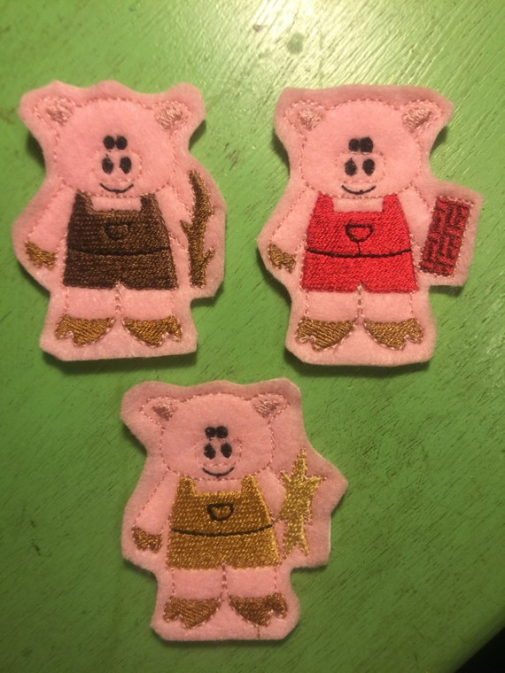 Latest 4x Three Little Pigs And Wolf Finger Puppets Hand Puppets Christmas Gifts