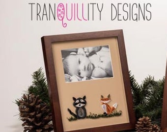 """MADE TO ORDER -Baby photo mat to match nursery decor (8""""x10"""" mat size for 4""""x6"""" photo, framed) baby room"""