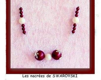 "Beautiful necklace from ""Swarovski Crystal pearls"" BORDEAU"