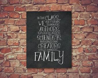 Back To School Class Rules Motto Classroom Behavior Chalkboard Wall Art Decor Quote Poster School Teacher Counselor Principle Gift 0186CB