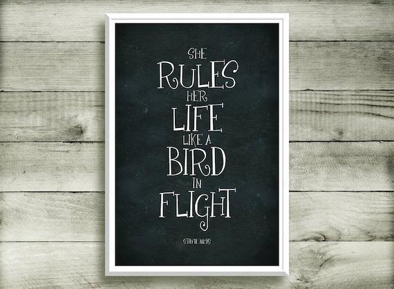 She Rules Her Life Like A Bird In Flight Stevie Nicks Rhiannon Etsy