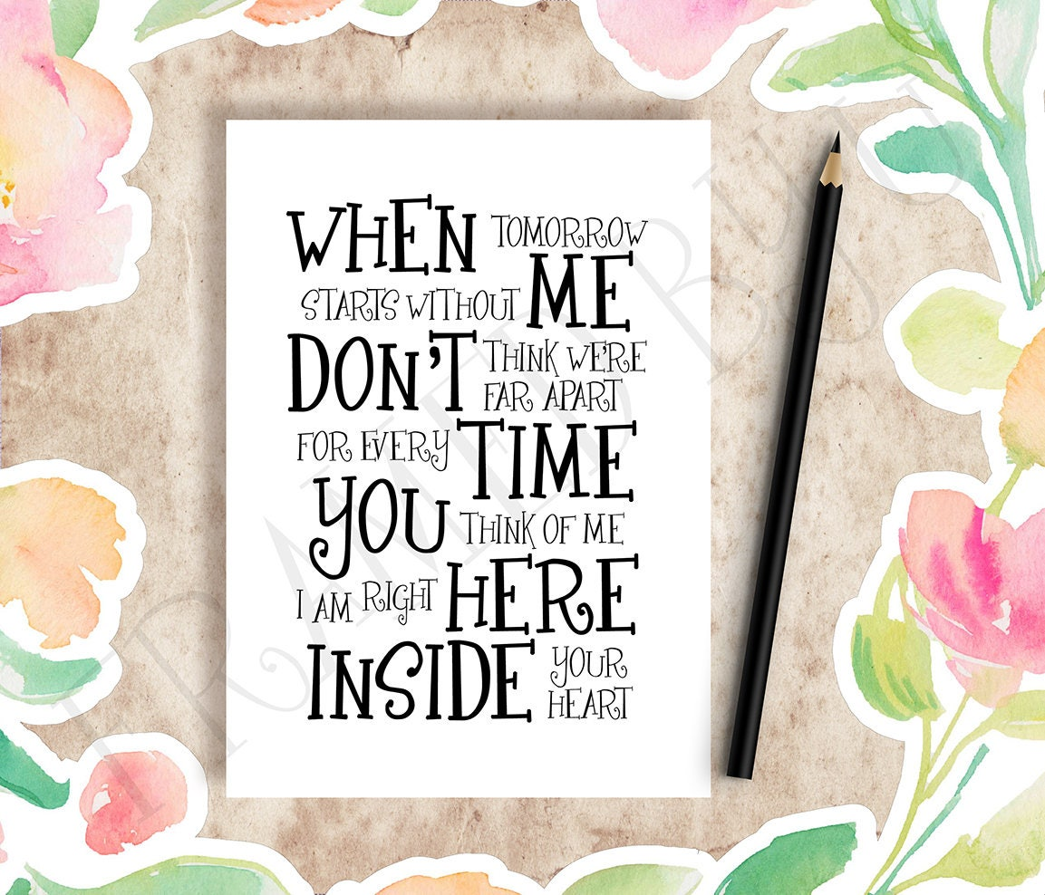 picture relating to When Tomorrow Starts Without Me Printable referred to as Printable Card with Quotation, Pet dog Decline, Sympathy Card, Mourning Card, Grief Card, Sorry for Your Reduction Card, Encouragement Card, Obtain