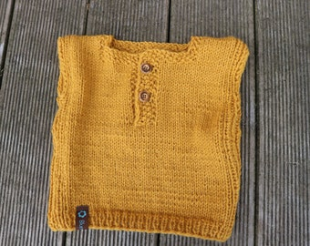 Baby wool sweater with alpaca