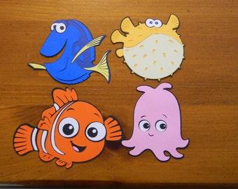 Finding Nemo Paper Die Cuts - Set of 4