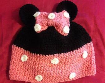 Crochet Minnie Mouse Hat