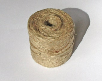 Jute Twine Tube Natural 4 Ply, Gift Wrapping and Craft Supply, Gift Tag String, 54 yards.