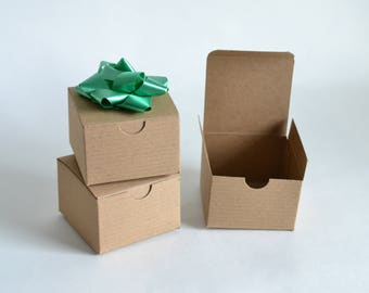 small gift boxes paper boxes party favor boxes kraft boxes christmas gift boxes wedding favor boxes 25 brown boxes 3x3x2