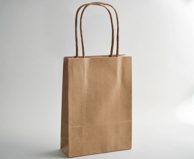 image 0 & Gift Bags with Handles Kraft Gift Bags Brown Paper Bags   Etsy