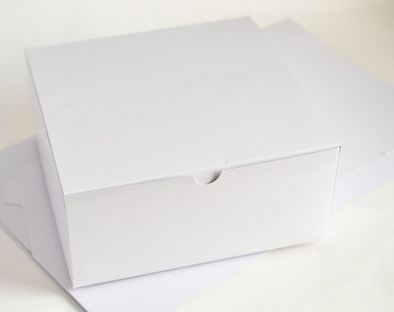 White Gift Boxes Bridesmaid Gift Boxes Boxes with Lid image 0