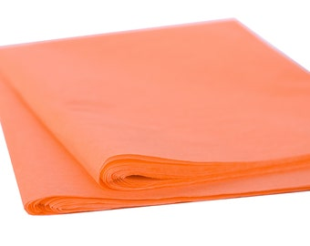 Coral Tissue Paper, 24 Large Sheets, Wrapping Paper, Gift Packaging, Craft Supply, Party Supply, Eco-Friendly, Made in USA