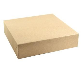 "Gift Box with Lid, 8.5""x8.5""x2"" Kraft, Box for Gifts, Bridesmaid Proposal Box, Groomsman Box"