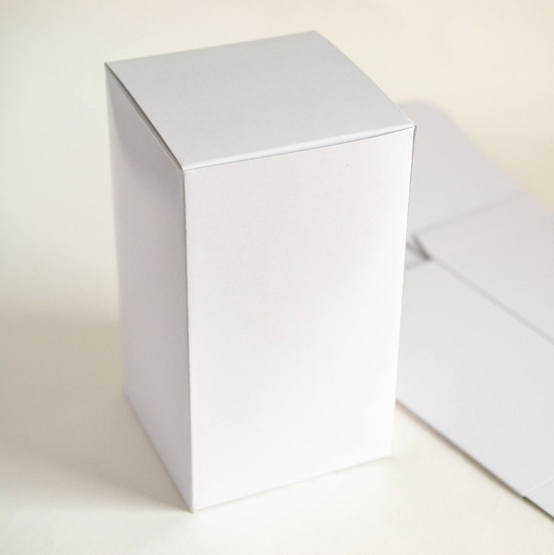 White Boxes Tall Gift Boxes Party Favor Boxes Bridesmaid Gift Boxes Paper Boxes Gift Packaging 10 Boxes For Gifts 4 X4 X7