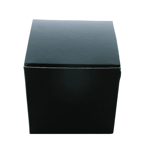 """Gift Boxes with Lid, 5 x 5 x 5"""" Black, Boxes for Gifts, Wedding Favor Boxes, Gift Packaging, Craft Supply, 10 Pcs"""