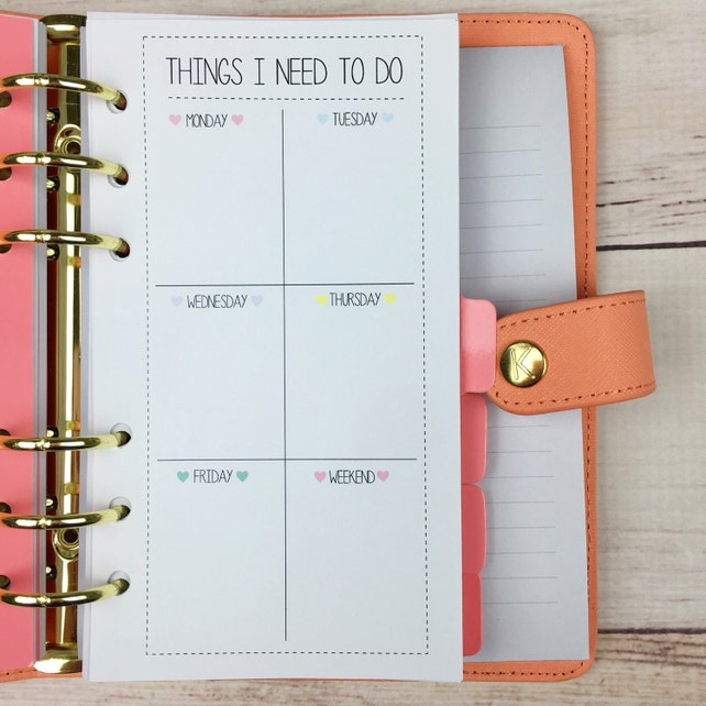 PERSONAL SIZE Planner Insert - To Do List