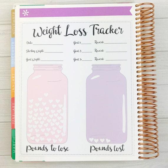 weight loss tracker sheet