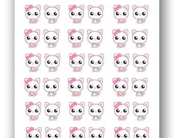 Kawaii Kitty Stickers