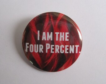 """Cute Redhead Ginger - I am the 4 percent - 1.25"""" or 1.5"""" - button - magnet - keychain"""
