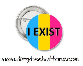 Pansexual Pride Pinback Button Magnet Keychain LGBTQIA Lesbian Gay Bisexual Transgender Queer Ace Gay Pride Asexual