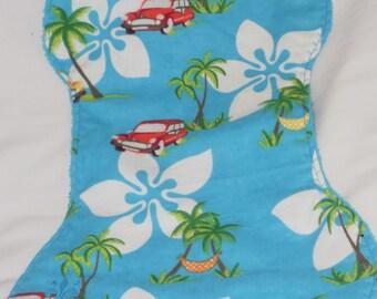 Hawaii Burp Cloth and Bib Set