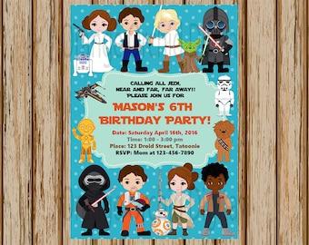 Star Wars Birthday Invitation Star Wars Birthday Party Finn