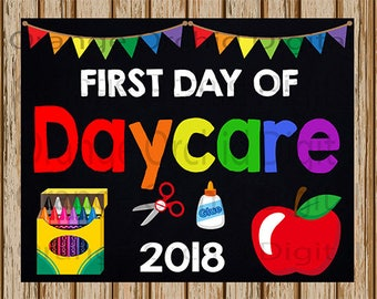 first day daycare etsy