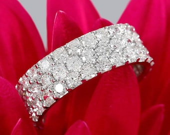 Wide Diamond Band Etsy