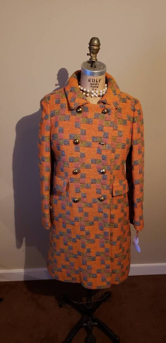 60s Two Piece Mod Coat/Dress