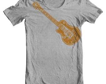 ce299666f Electric Guitar Les Paul T shirt famous 60's model Guitar Standard Gibson  Gifts for musicians. Left handed guitar Rock tshirt