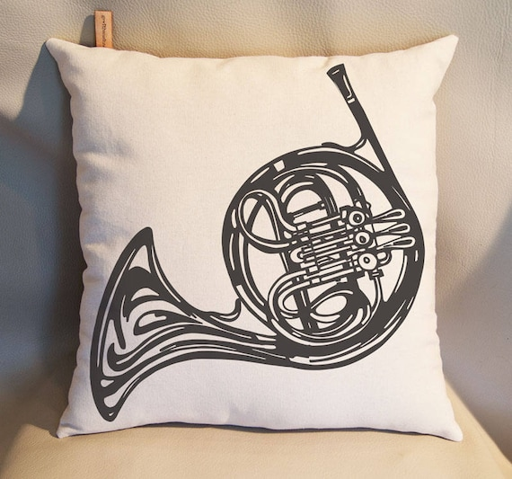 French Horn Pillow Rustic Pillow Home Decor Decorative Pillows Etsy Mesmerizing French Pillows Home Decor