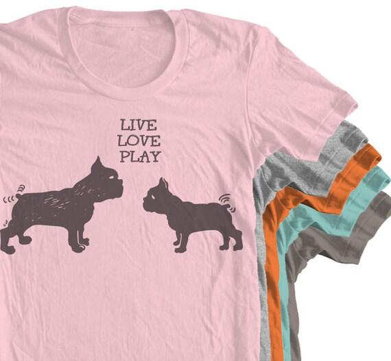 Französische Bulldogge Hemd Slim Fit Größen Unisex Jugend   Etsy eb0370c454