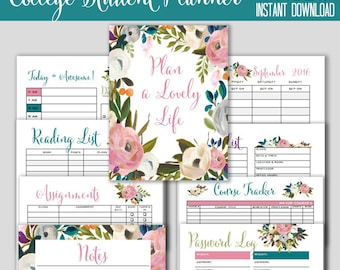 college student planner 2017 18 weekly planner and printable agenda printable daily planner course tracker student organization
