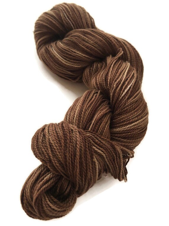 Hand-dyed cotton, 400 yards, in multiple shades of browns