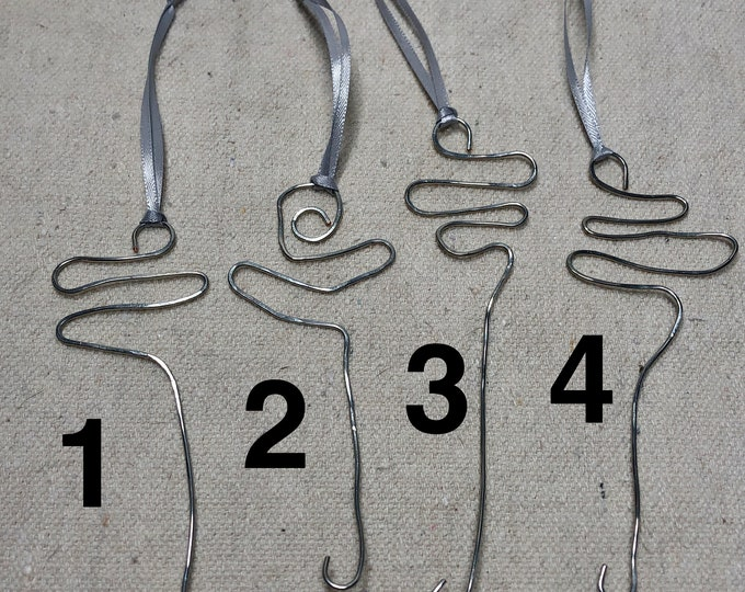 Handmade wire orifice threading hook
