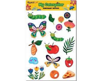 My Caterpillar Temporary Tattoo Sheet for Kids