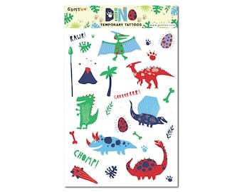 Dinosaur Temporary Tattoos for Kids Birthday Party