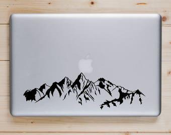 Mountain Range Vinyl Computer Decal, Vinyl Sticker Mountain Range,  Computer Sticker, Custom Computer Decal, Top Seller, Mountain Range