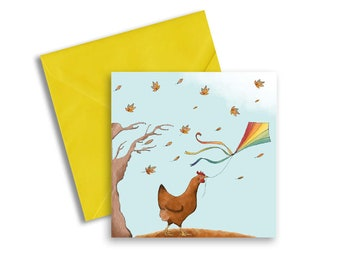 ea81249588819 Let's Go Fly a Kite Greetings Card