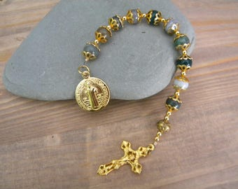 Fancy Jasper rosary