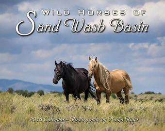 2018 Wild Horses of Sand Wash Basin Wall Calendar, wild mustang photos, wild horses running, wild stallions, Northwest Colorado
