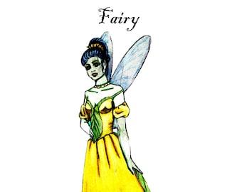 Fairy paper Doll Set