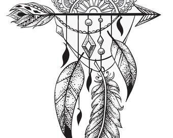 Tatouage Temporaire Fleur De Lotus Etsy